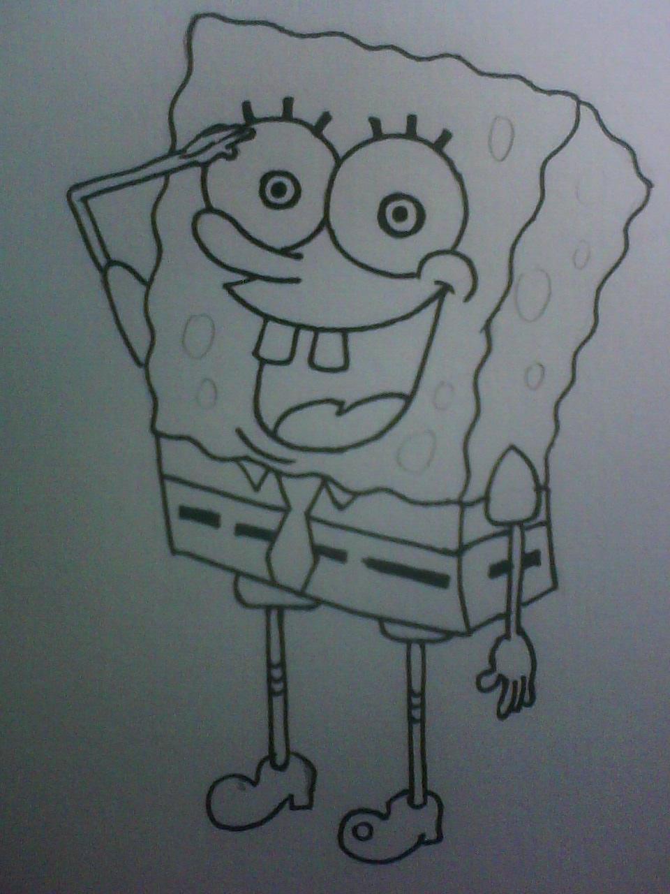 22 Gambar Spongebob Dengan Pensil Inspirasi Spesial