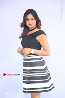Actress Mi Rathod Pos Black Short Dress at Howrah Bridge Movie Press Meet  0029.JPG