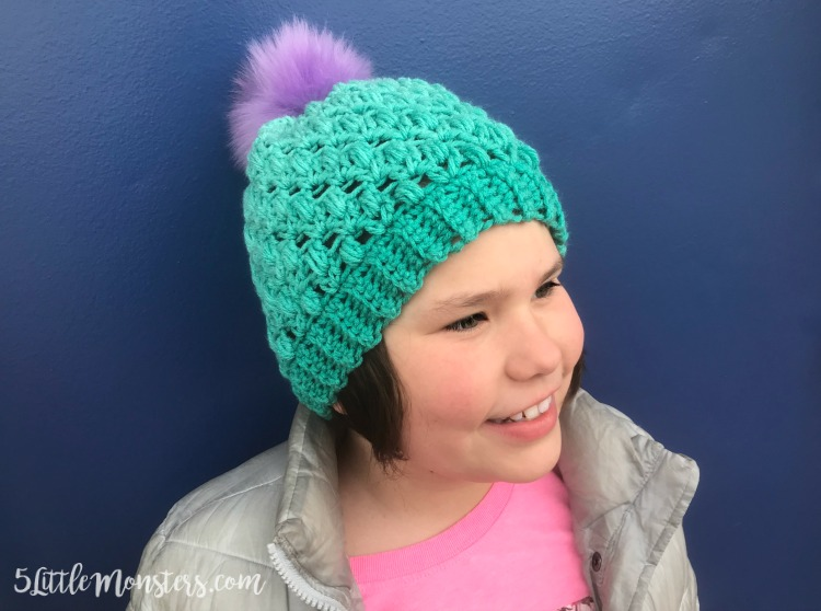be8b0c8a6bd60 5 Little Monsters: Lacy Puff Stitch Hat