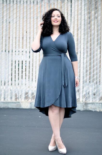 Model Wrap Dress Wanita Gemuk Agar Terlihat Langsing