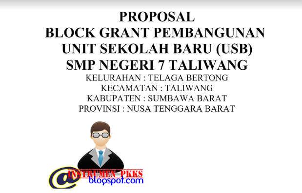Contoh Proposal Pengajuan Unit Sekolah Baru (USB) Format Word