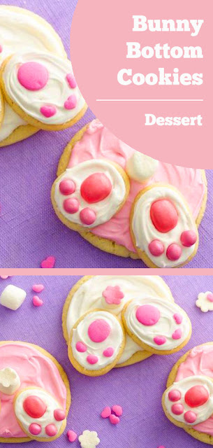 Super cute Bunny Bottom Cookies - what a fun idea to do with the kids! #PillsburyEaster #easter #cookies #dessert
