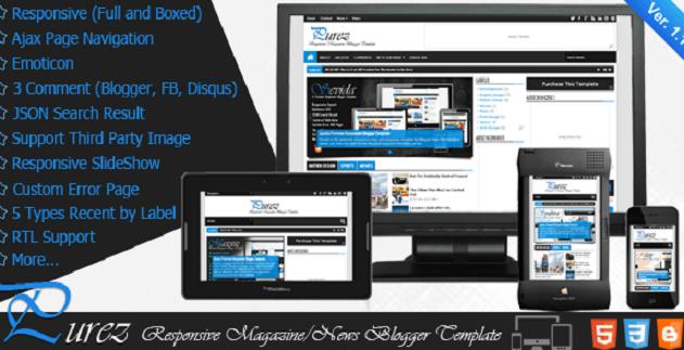 Purez Blogger Tamplates