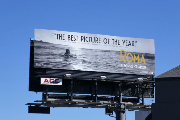 Roma Best picture nominee billboard