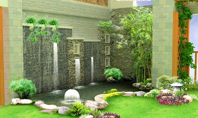Tiểu cảnh sân vườn tại biệt thự liền kề Louis City
