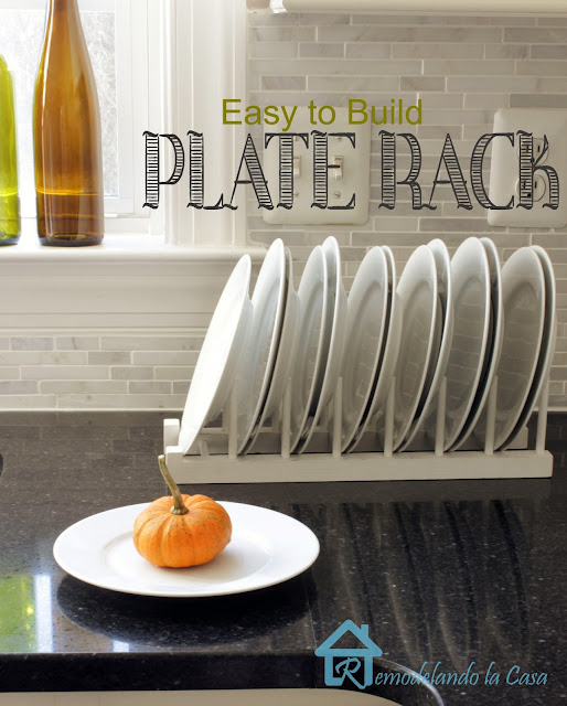 diy - plate rack - stand alone