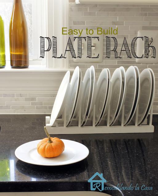 diy - plate rack - stand alone