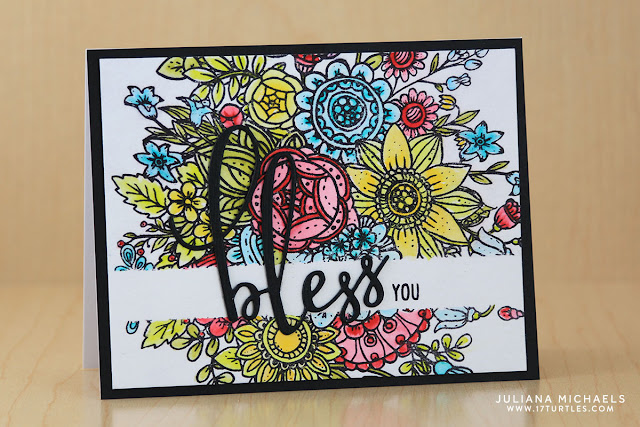 Bless You Card by Juliana Michaels featuring Honey Bee Designs Stamps. This card can by found in the Summer 2017 issue of CardMaker Magazine.