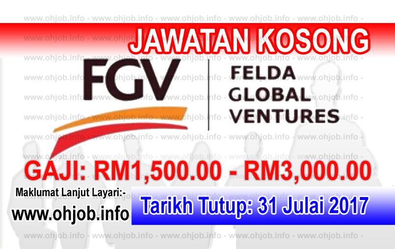 Jawatan Kerja Kosong Felda Global Ventures - FGV logo www.ohjob.info julai 2017