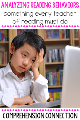 One practice every teacher needs to do is analyze his/her students' reading behaviors. Kid watching can tell us a lot about student understandings. Check out this post to learn more.
