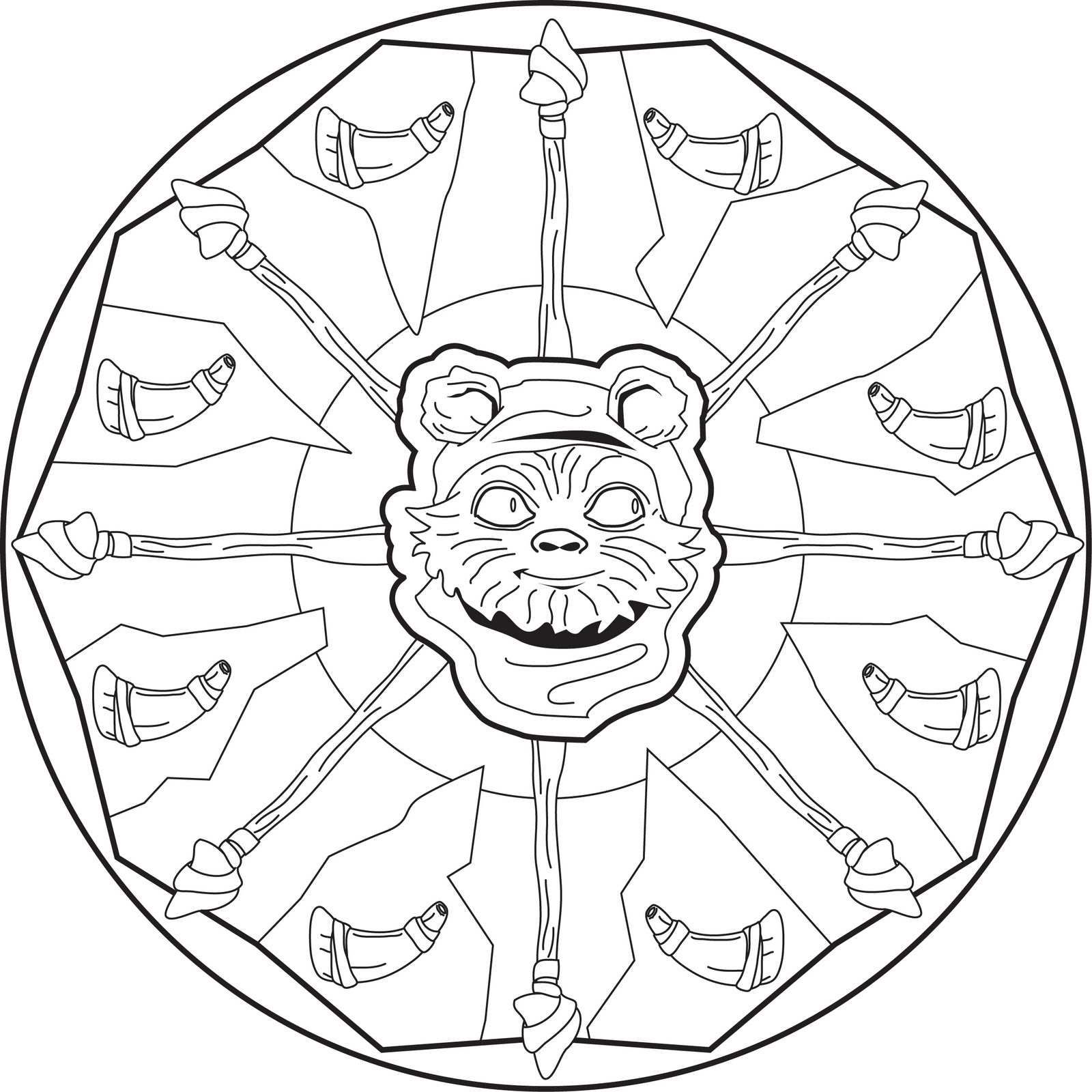 full page mandala coloring pages - photo #28