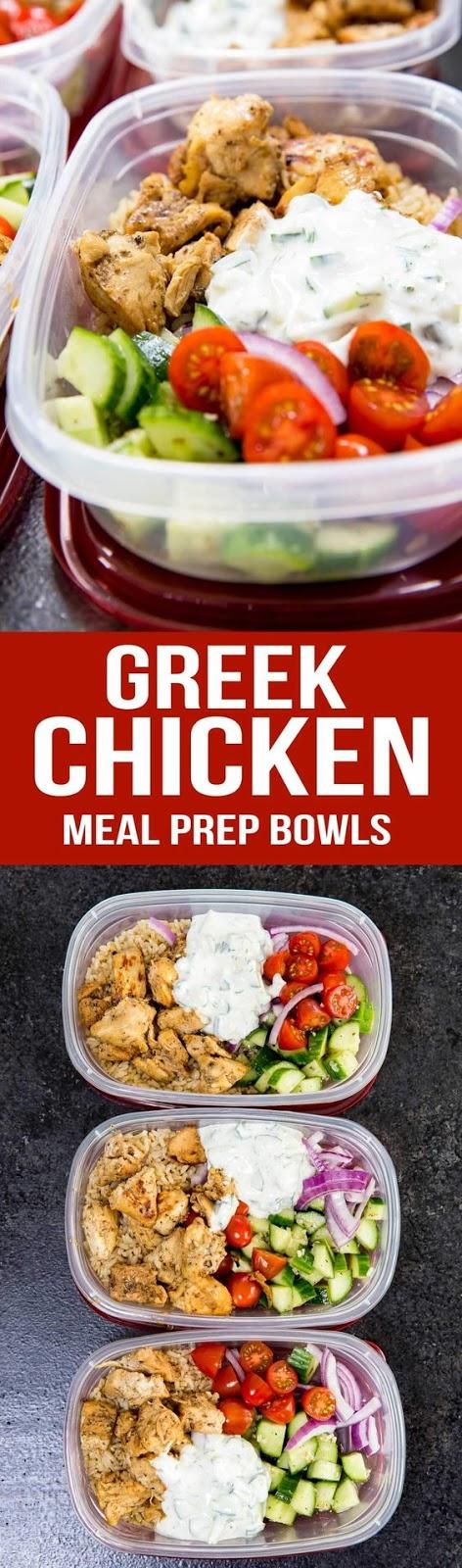 Greek Chícken Bowls (Meal Prep Easy)