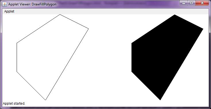 Java Programming Program To Draw Polygons On Applet