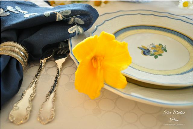 Set the Table - Blue White & Yellow