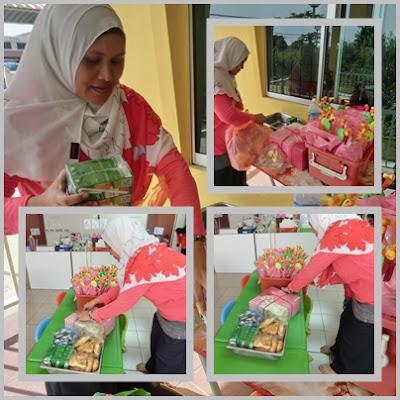 Celebrating lil' Iman's 4th year birthday at his Permata Playschool