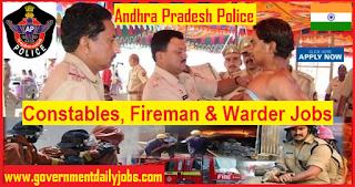 AP Constable Notification 2018 of 2723 Constables, Fireman & Warders