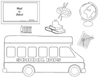 Back to school coloring pages
