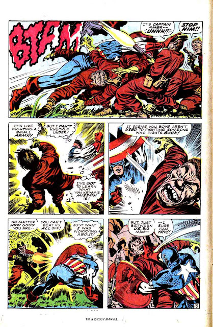 Captain America v1 #101 marvel comic book page art by Jack Kirby