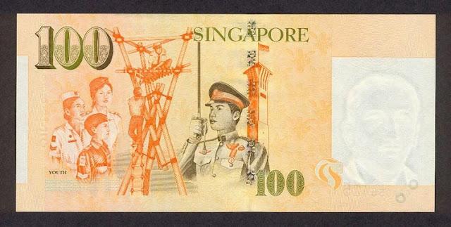 Singapore 100 dollar notes