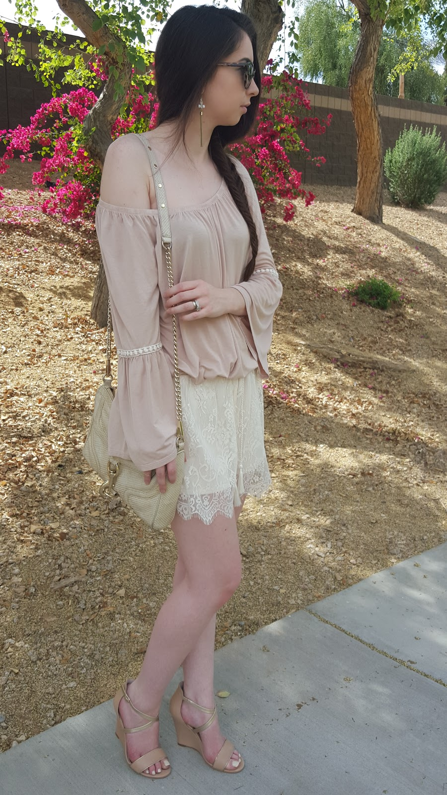 easy fishtail braid and cute boho outfit