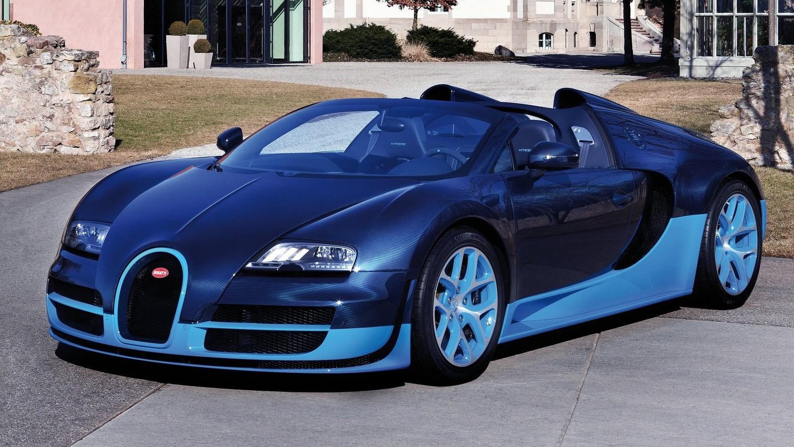 Blue Bugatti Veyron Super Sport Wallpaper: Bugatti Veyron Grand Sport Vitesse