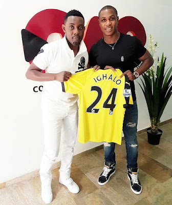 Jude Ighalo presents comedian AY branded jersey