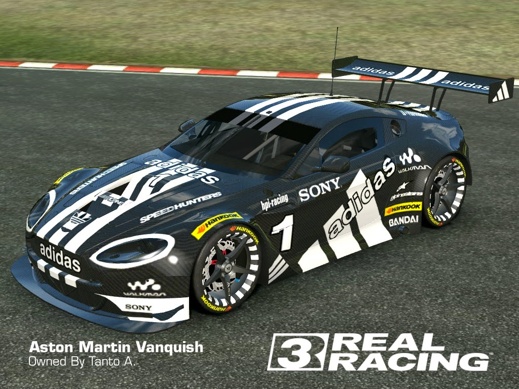 2013 astonmartin vanquish aston martin gt3 full car black carbon adidas by tanto arc