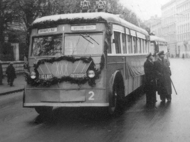 1947 год. Первые троллейбусы Риги