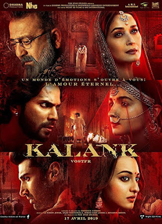 Poster Of Bollywood Movie Kalank 2019 300MB Pdvd Full Hindi Movie