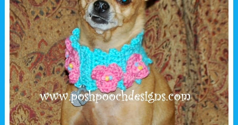 Crochet Dog Collar Flower Pattern