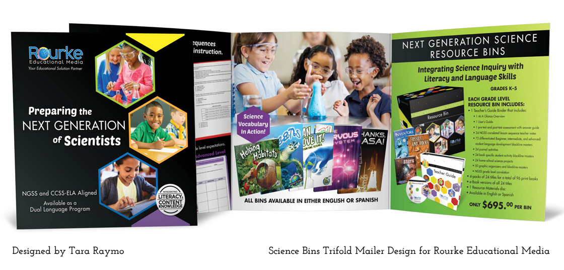 creatively tara tri fold mailer brochure designs