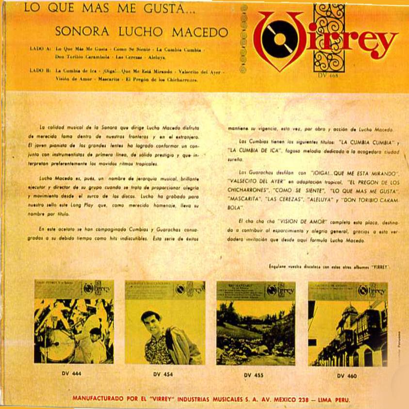 La Sonora De Lucho Macedo El Dia Que Yo Me Case / Ricos Besos
