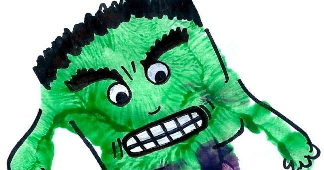 Hulk Handprint Messy Little Monster