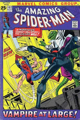 Amazing Spider-Man #102, Morbius, the Lizard and a six-armed Spider-Man