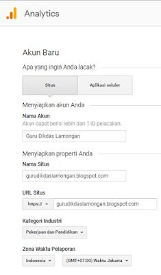 Cara Daftar dan Pasang Google Analytics di Blog