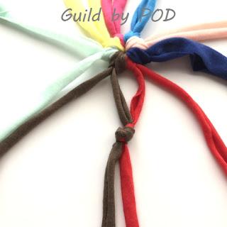 【無料編み図】マクラメリボンを使ったマクラメハンギングバッグ Guild by POD 毛糸ズキ!