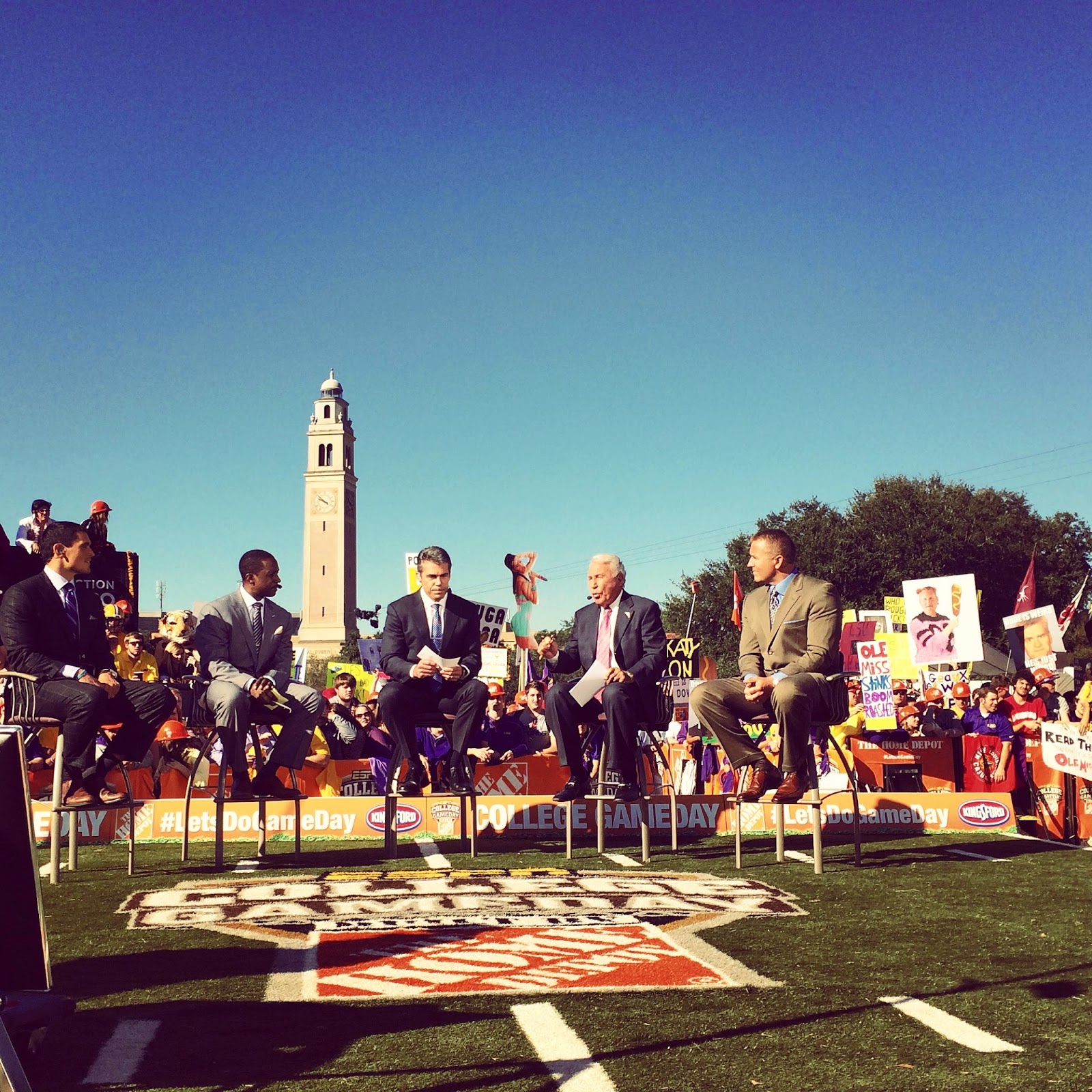 A beautiful day for The Home Depot and College GameDay to come to LSU!