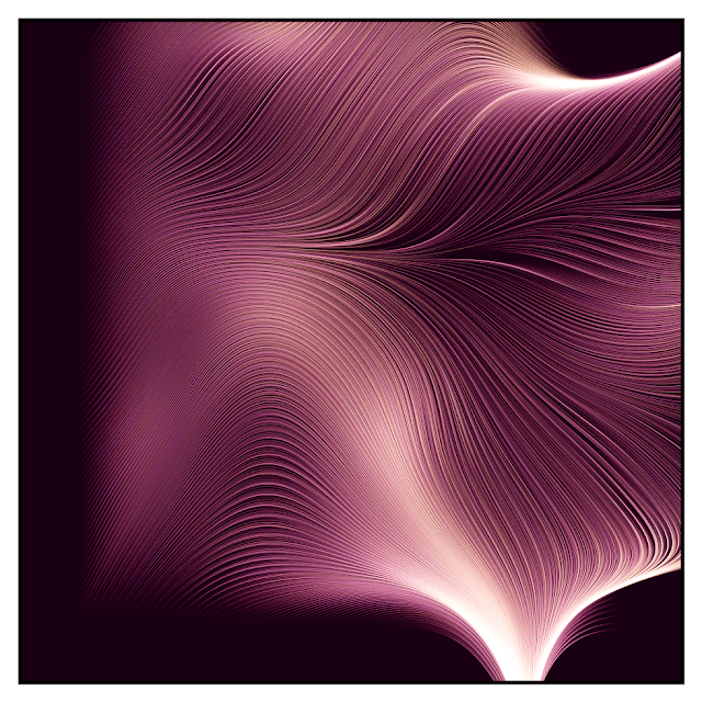 Generative art with many flow lines.