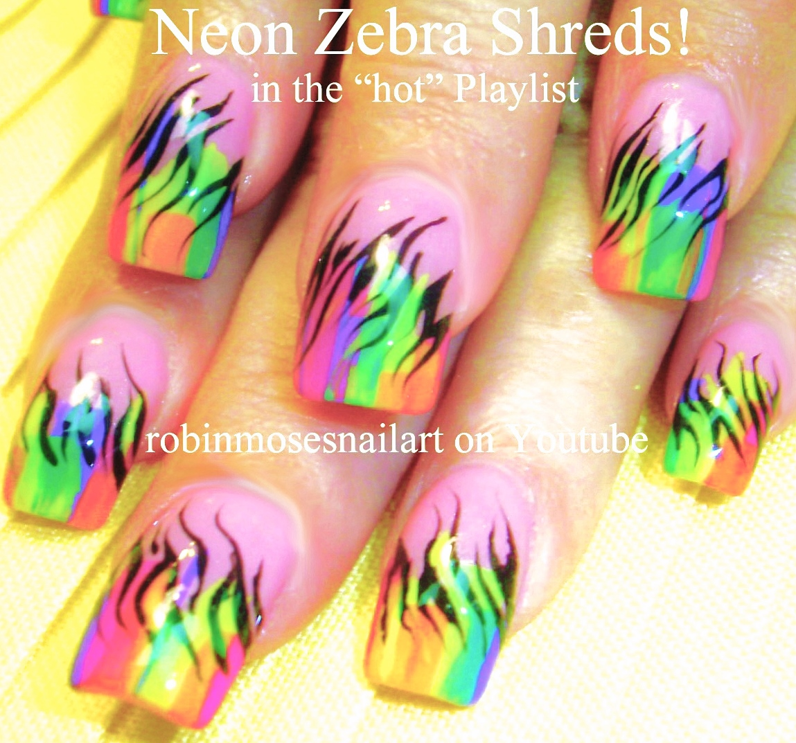 Nail Art by Robin Moses: Rainbow Animal Paw Prints! Super Cute ...