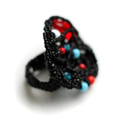 крупное черное кольцо купить готические украшения ручной работы