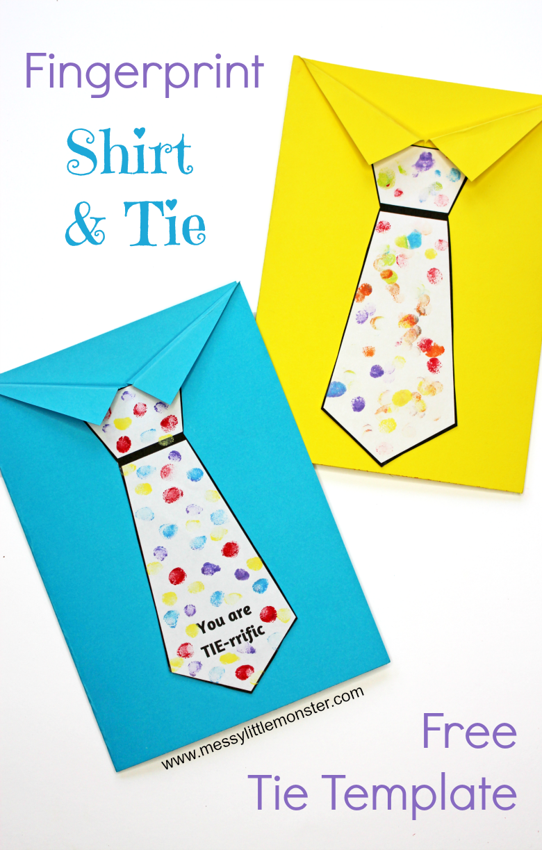 Father S Day Tie Card With Free Printable Tie Template Messy