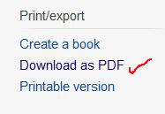 convert and save Wikipedia articles into PDF format