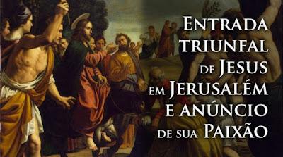imagem da entrada de Jesus em Jerusalém