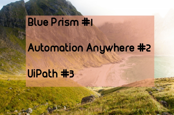 Three popular RPA tools functional differences