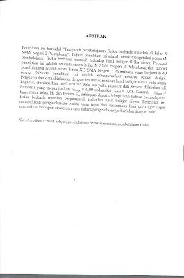 Skripsi Mahasiswa Pendidikan Fisika Universitas Sriwijaya
