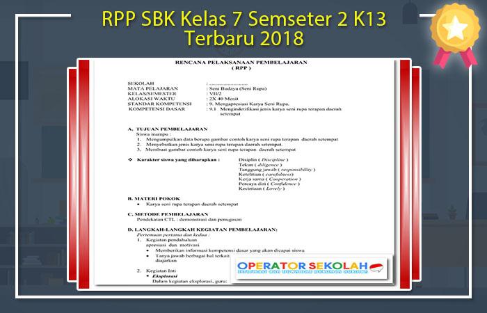 RPP SBK Kelas 7 Semseter 2 K13