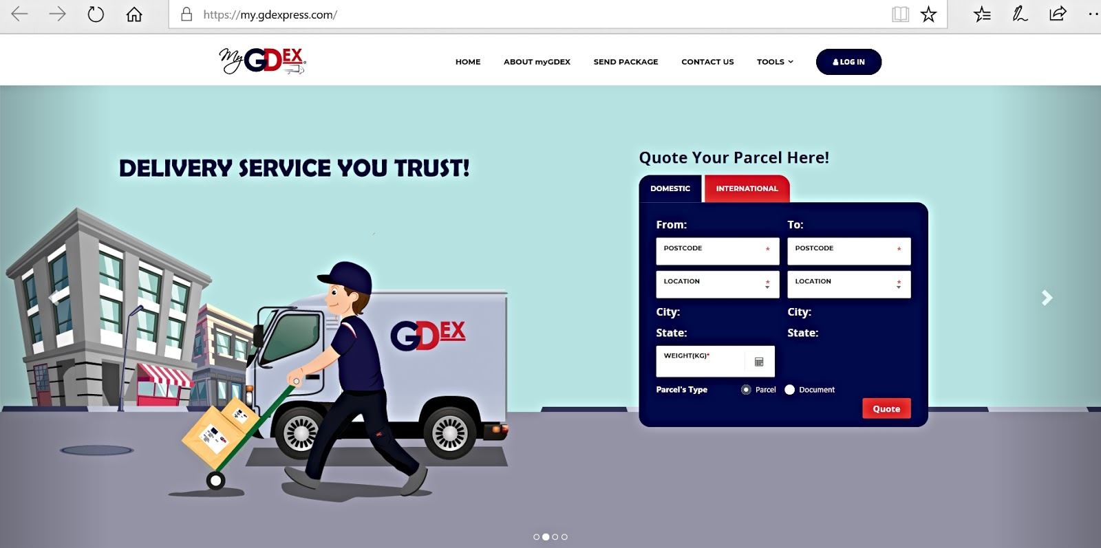 Trustable And Secure Delivery Service Platform By myGDex - Betty\'s ...