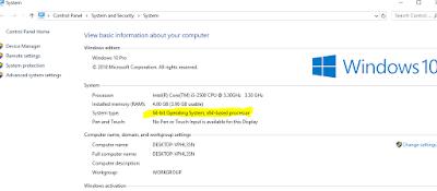 Cara Melihat BIT Laptop (32 BIT atau 64 BIT) Di Windows 10/8/7