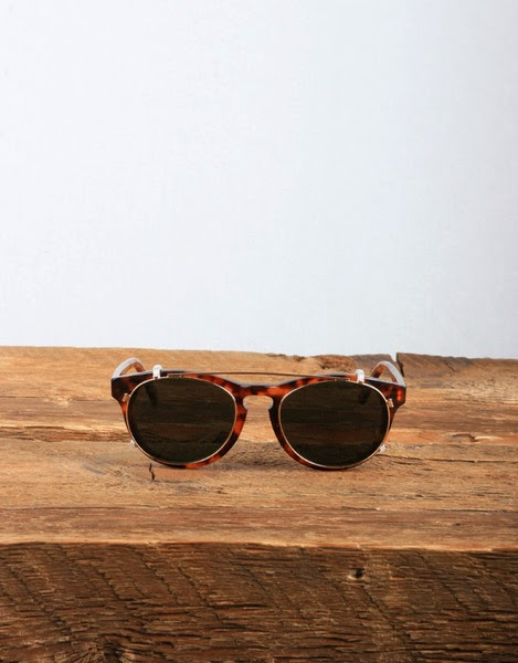 a70f492d8d5b Han Kjøbenhavn Timeless  Clip-On  Sunglasses in Amber with Green Lens - The   Timeless  is a beautifully crafted and designed piece of eyewear from Han  ...