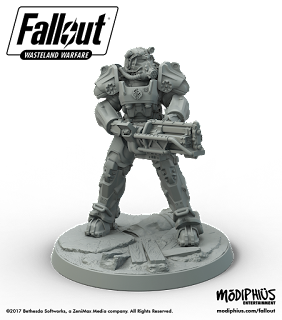 fallout miniatures game brotherhood of steel power armour